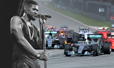 Engines Roar, Usher Sings at F1 Malaysia Grand Prix