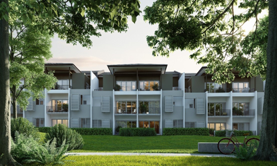 Tropicana Heights, walking the line between natural and urban development styles.